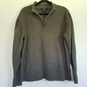GORGEOUS GREY BROWN EXOFFICIO PULLOVER SWEATER
